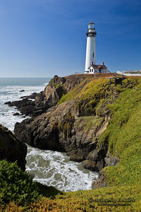 Pigeon Point Lighthouse, Pacific Ocean, California, U.S.A.