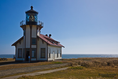 Point Cabrillo Lighthouse.  Point Cabrillo Light Station A California State Historic Park.