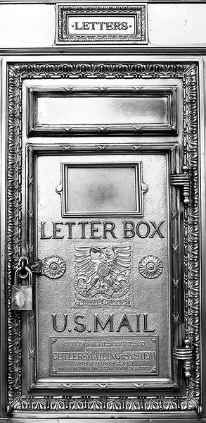 Hermitage Hotel Letter Box