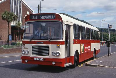 Citybus 2499 Ballysillan Rd Carrs Glen Belfast Jun 99