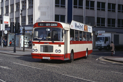 Citybus 2492 Donegall Square Belfast Jun 99