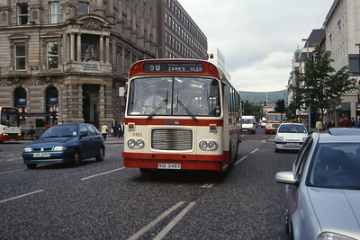 Citybus 2483 Donegall Square Belfast Jun 99
