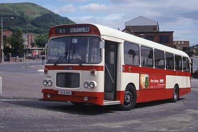 Citybus 2499 Carrs Glen Terminus Belfast 1 Jun 99