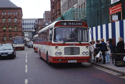 Citybus 2482 Donegall Square Belfast 1 Jul 98