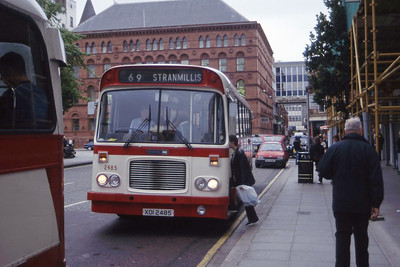 Citybus 2485 Donegall Square Belfast Jul 98