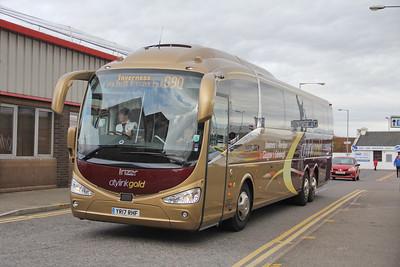 Edinburgh Coach Lines YR17RHF Strothers Lane Inverness Oct 17
