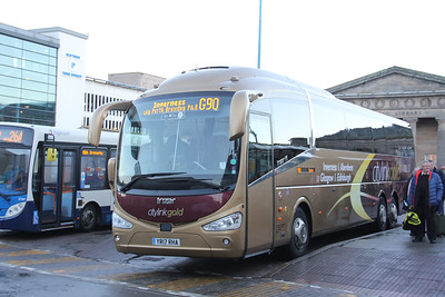 Edinburgh Coach Lines YR17RHA Inverness Bus Station Dec 18