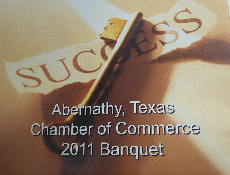 Abernathy Chamber of Commerce Banquet 3-07-2011