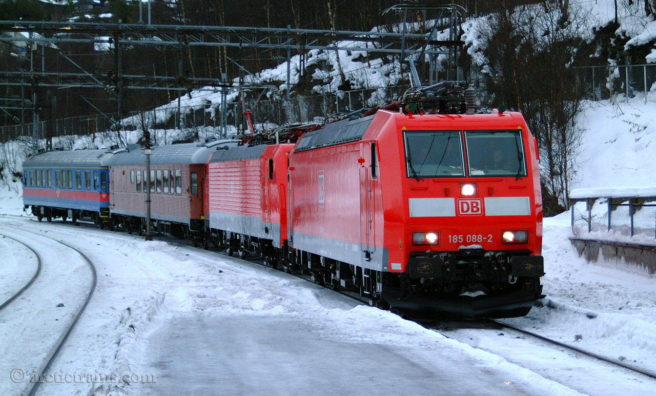 DB Br185 Br189 test train Narvik C 2003-02-11 by TS