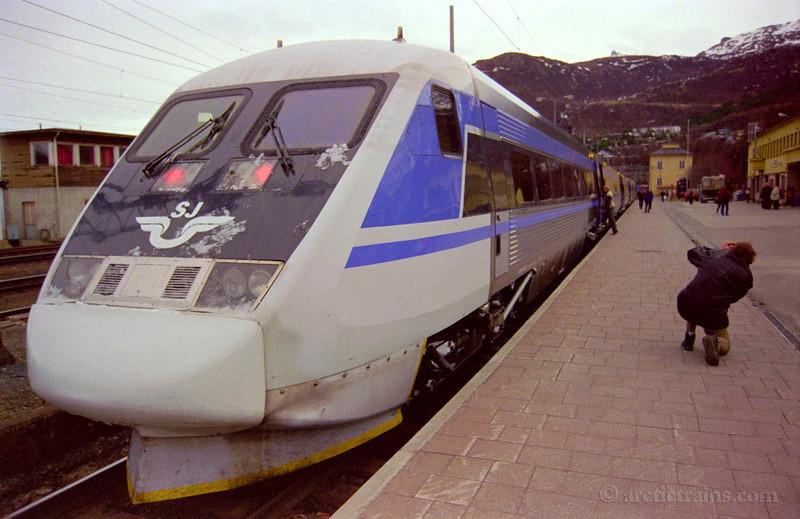 SJ X2000 Narvik C Demonstration Luleå Narvik Järnvegsfrämjandet 1998-05-07 by TS