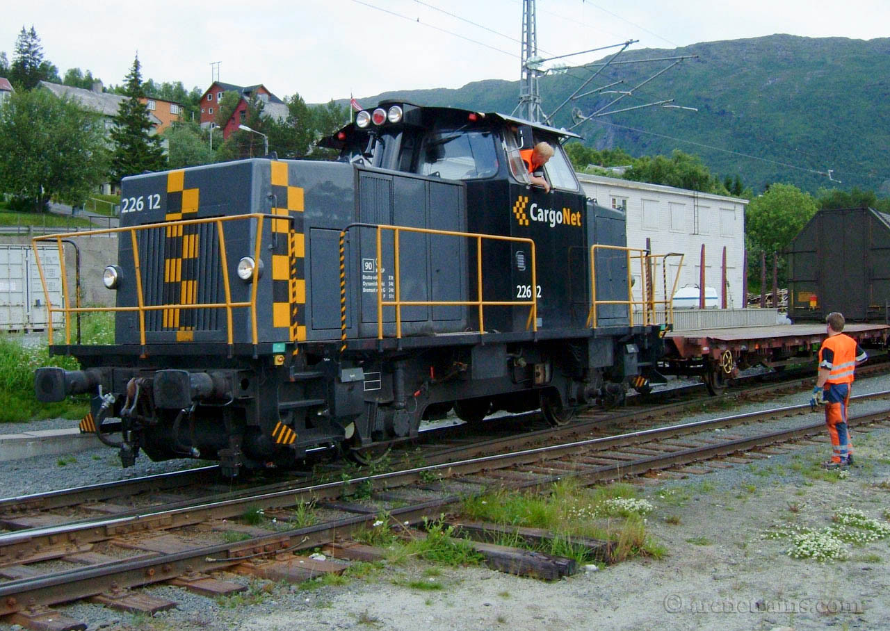 Cargonet Skd 226.12 Dieselhydraulic shunter Narvik H Fagernes terminal 2004-07-11 by TS