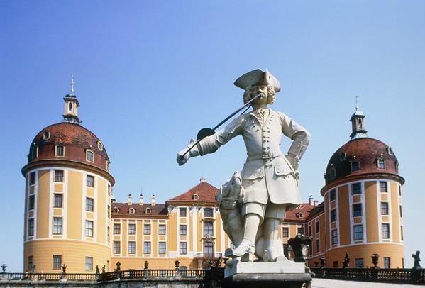 Germany, Saxony, Dresden, castle Moritzburg --- Image by © Wilfried Krecichwost/Corbis