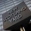 UK - London - Met Police's New Scotland Yard sign