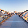 London, Cathedral and Millennium bridge, St Paul's Cathedral
