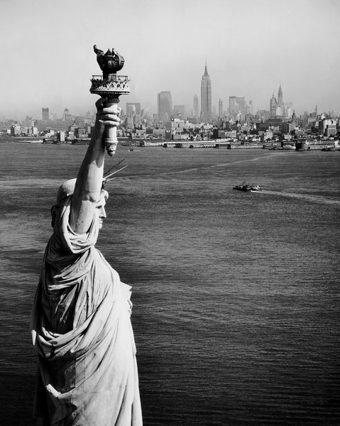 High angle view of a statue, Statue of Liberty, New York City, New York, USA --- Image by © SuperStock/Corbis