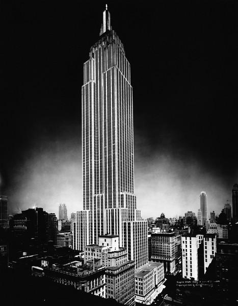 1929-1931, Manhattan, New York City, New York State, USA --- Empire State Building at Night --- Image by © CORBIS