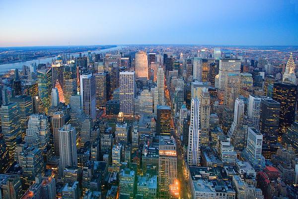 March 2006, Manhattan, New York City, New York State, USA --- Skyscrapers in Midtown Manhattan --- Image by © Jose Fuste Raga/Corbis