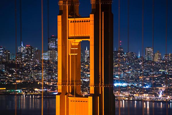 08 Dec 2012, San Francisco, California, USA --- Golden Gate Bridge --- Image by © Gary Weathers/Tetra Images/Corbis