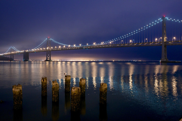 29 Sep 2012 --- View of the Bay Bridge at dawn from the Embarcadero. --- Image by © Krista Rossow/National Geographic Creative/Corbis