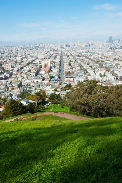 04 Mar 2013, Castro District, San Francisco, California, USA --- View from Bernal Heights Park, The Castro, San Francisco --- Image by © Martin Richardson/Dorling Kindersley Ltd./Corbis