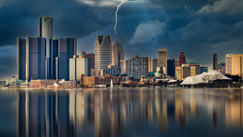 Stormy Day in Detroit