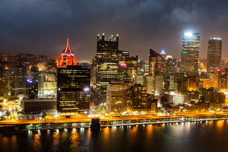 Pittsburgh Cityscape at Night