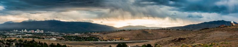 8 Panel Pano of a Reno Rainstorm
