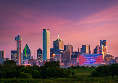 Dallas Skyline Sunrise