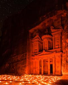 Petra Treasury by Night