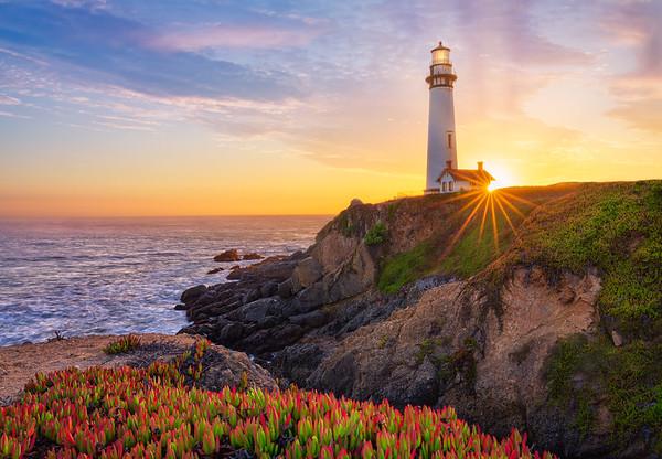 Pigeon Point Lighthouse Sunburst