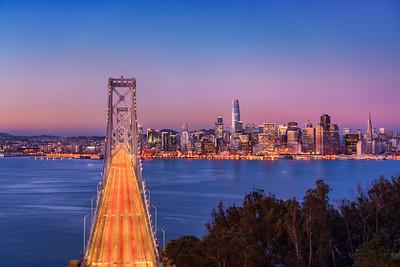 SF Bay Bridge Sunrise