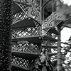 Dobbeltrappe. Stairs in the Greenhouse of the Botanical Gardens of Copenhagen.