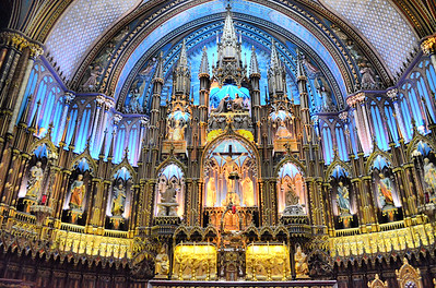 Notre-Dame Basilica in Montreal.