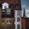 Spiral.<br /> Tower of Our Saviours Church.<br /> Vor Frelser set fra volden ved Lille Søndervold Stræde, Christianshavn, København, Danmark.<br /> Fotograferet med en Lensbaby.