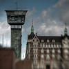 Copper.<br /> The control tower for a bascule bridge at the Copenhagen harbour.<br /> Tårnet på Langebro, København, Danmark.<br /> Fotograferet med en Lensbaby.