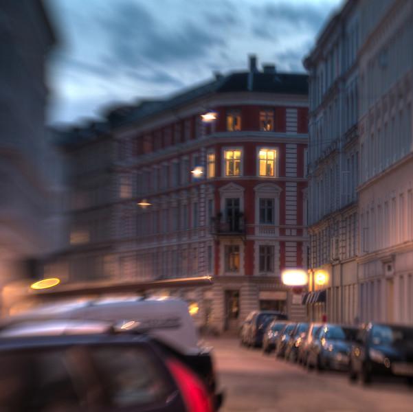 Dusk Street.<br /> Holsteinsgade, København, Danmark.