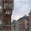 Signs.<br /> Hjørne af hovedbanegården mod Reventlovsgade, København, Danmark.<br /> Digital manipuleret med soft charcoal i oil, Corel Paint.