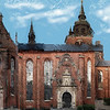Helligånds Kirken - church of the Holy Spirit.<br /> Set fra kirkepladsen, Strøget, København, Danmark.<br /> Digitalt manipuleret med smooth edge caligraphy pen i Corel Painter.