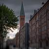 Campanile.<br /> Nazareth kirke i Ryesgade, København, Danmark.