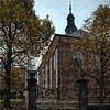 The Sunday Gate.<br /> Tysk reformerte Kirke i set fra Rosenborggade, København, Danmark.<br /> Digitalt manipuleret med pen brush i Corel Paint.
