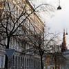 Defoiled Trees.<br /> Vor Frelsers spir set fra Tordenskjoldsgade, Gammelholm, København, Danmark.<br /> Digitalt manipuleret med soft cover brush i oil, Corel Paint.