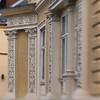 Stucco.<br /> Villa på Alhambravej, Fredriksberg, København, Danmark.<br /> Fotograferet med en Lens Baby.