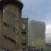 Spiral and Squares.<br /> Hotel Astoria med SAS hotellet i baggrunden, København, Danmark.<br /> Dgitalt manipuleret med sponge brush i Corel Paint.