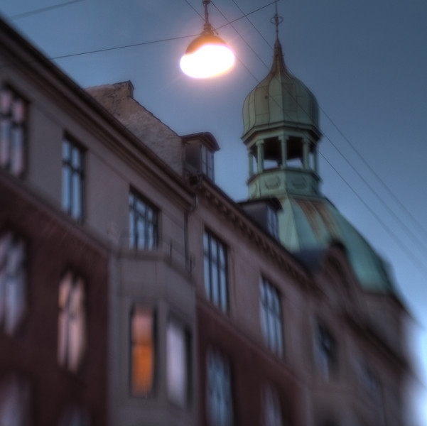 Lamp and Spire.