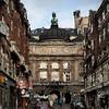 Det Ny Teater - The New Theater<br /> set fra Vesterbrogade, København, Danmark.<br /> Digitalt manipuleret med wet impasto brush i Corel Paint.