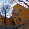 Yellow Corner.<br /> Huse set fra kirkepladsen ved Helligånds Kirken, Strøget, København, Danmark.<br /> Digitalt manipuleret med wet impasto brush i Corel Paint.