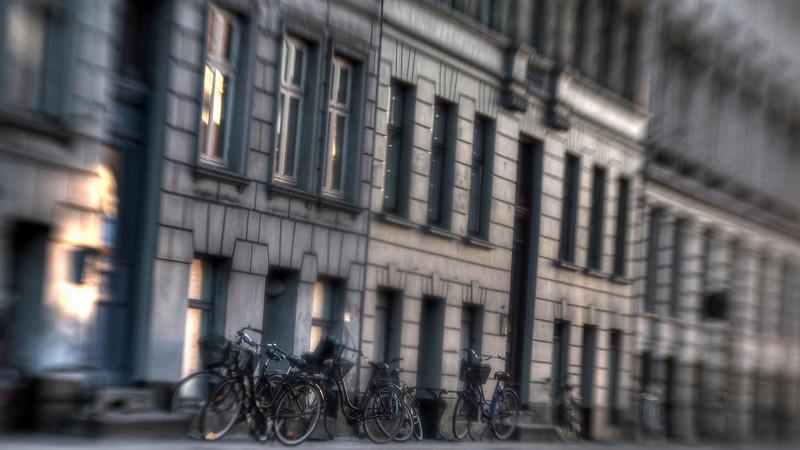 Bike Facade.<br /> Webersgade, København, Danmark.