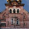 Alexander Newsky - den russisk ortodokse kirke - orthodox russian church.<br /> Bredgade, København, Danmark.<br /> Composite photo painted with digital  wet sumi e brush i Corel Painter.
