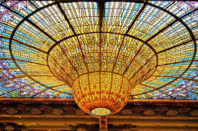 The Palau de la Música Catalana in Barcelona, Spain.