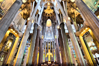 La Sagrada Familia in Barcelona.